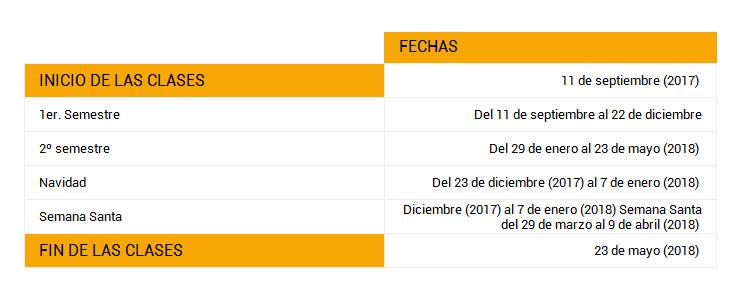 Calendario Ua.Calendario Academico Ua 2017 2018 Universidad De Alicante Calendario