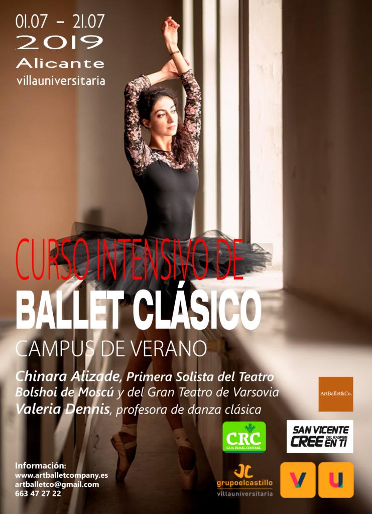 Campus de verano Ballet Clásico, en la Villa Universitaria.